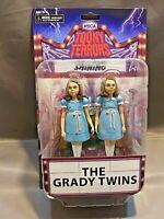 NECA Toony Terrors THE GRADY TWINS The Shining Movie Bonus Backdrop Display New