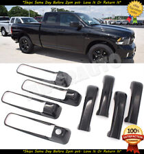 For 2010-2018 RAM 1500 2500+3500HD 4DR CREW GLOSSY BLACK DOOR HANDLE COVERS