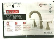 Delta Portwood Bathroom Faucet Widespread 2-Handle SpotShield Brushed Nickel