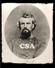 General Nathan Bedford Forrest • signed NB Forrest Brig Gen