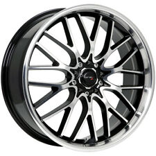 "Drifz 302MB Vortex 17x7.5 5x100/5x4.5"" +42mm Black/Machined Wheel Rim 17"" Inch"