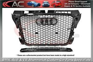 RS3 STYLE (GLOSS BLACK) FRONT GRILL (2008-2012) - FIT AUDI A3 & S3