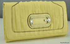 FREE Ship USA NWT Wallet GUESS Chiffon Yellow New Ladies Purse Authentic Lovely