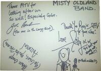 Misty Oldland SIGNED AUTOGRAPHS RARE MTVs Most Wanted Guest Book Page AFTAL UACC