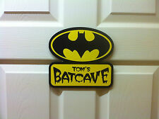 Personalised Batman door sign plaque Batcave childrens birthday idea