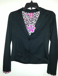 NWT Ladies Forever Orchid  BLAZER Size L 14 JUNIOR  V~ Neck Long Sleeve buttons