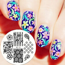 Nagel Schablone BORN PRETTY Nail Art Stamp Stamping Template Plates BP 65