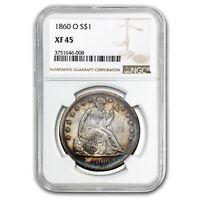 1860-O Liberty Seated Dollar XF-45 NGC - SKU#118169