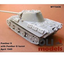 1/72 PANTHER II with Panther G Turret April 1945 RESIN Kit - Modell Trans 72436