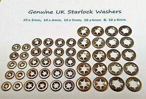 Starlock Washers Push On Shaft Metal Star Nut Speed Retainers Fasteners Clips