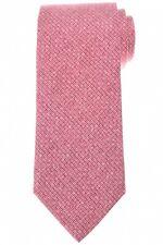 Isaia Silk Tie Pink Print 06TI0307 $230