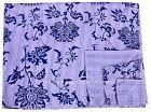 Handmade Cotton Twin Size Indian Kantha Quilt Throw Bedspread Blanket Bedding