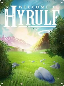 Welcome To Hyrule Tin Sign - The Legend of Zelda - Size: 15cm x 20cm