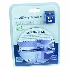 Blue 3M 'Try Me' LED Strip Kit with Power Supply