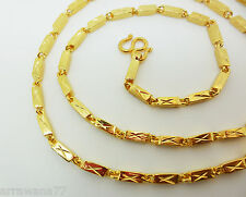 Men's  22K 23K 24K THAI YELLOW GOLD GP Filled NECKLACE 25 Inch 23 Gram Jewelry