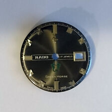 Rado green horse dial dark grey black NOS 28mm