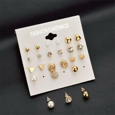 Wholesale A Set Of 12 Pairs Different Style Ear Studs Earrings Allergy Free UK