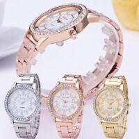Women's Luxury Watch Crystal Rhinestone Stainless Steel Analog Quartz Wristwatch