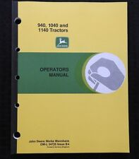 GENUINE 1980-1987 JOHN DEERE 940 1040 1140 TRACTOR OPERATORS MANUAL MINTY