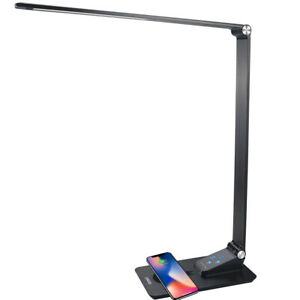 Brand Owner@ Gerintech Desk Lamp with Wireless Charger, USB Port, 5 Brightness