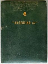 "s876) Argentinien Exposition ""Argentina 62"" special book - 89 proofs ""Escuditos"""