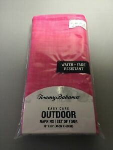 TOMMY BAHAMA EASY CARE OUTDOOR  NAPKINS PINK  (4) 18 X18 NIP