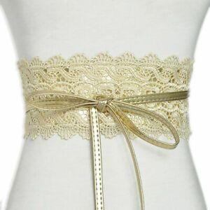 Waist Belts Bow Lace Polyester Corset Wide Obi Cinch Band Women Wedding Dresses