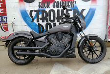 Rick Fairless RF Customs Booster Slip-On Mufflers for '17 Victory Octane Exhaust