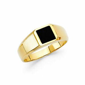 14K Yellow Gold Onyx Men's  Ring / Avg. Weight - 4.2 grams