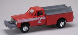 HO 1:87 Trident # 90163 Chevy Pickup 4 x 4 Emergency Brush Fire Truck - Red