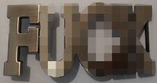 F**K RUDE WORD ADULT FUN 3D METAL BELT BUCKLE BOUNCER BIKER TRUCKER GOTH PUNK