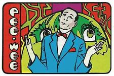 PEE WEE HERMAN    1980's Vintage style  Bumper Sticker Travel Decal Label