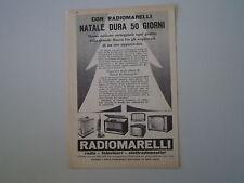 advertising Pubblicità 1958 RADIOMARELLI RADIO TELEVISORI