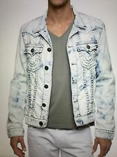 TRUE RELIGION JIMMY SUPER T DENIM MEN JACKET MINERAL REEF MJHR62NA7 NWT L $398