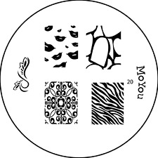 MoYou Nails Image Plate 20 Nail Art Stamping Template  Manicure Stencil Plates