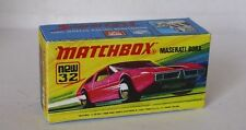 Repro box MATCHBOX superfast Nº 32 MASERATI BORA
