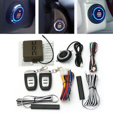 8Pcs Car Alarm System Security Keyless Entry Push Button Remote Starter Kit US