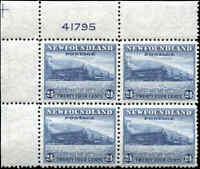 Mint NH Canada Nfdland 1941-44 Block of 4 F-VF 24c Scott #264 Definitive Stamps