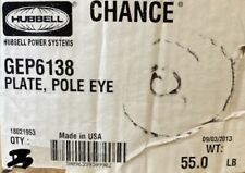 Chance Plate, Pole Eye Gep6138- Hubbell