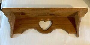 vintage solid wood wall shelf 23 X 5