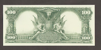 Proof Print or Intaglio Impression by BEP of Back of 1902 $100 National Currency