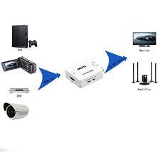 1080P HDMI TO AV RCA COMPOSITE CVBS S-VIDEO CONVERTER ADAPTER FOR HDTV DVD HOT*