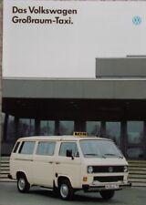"Prospekt VW Bus Typ 2 T3 ""Gossraumtaxi""  11/1988 Kombi ""L"" und Caravelle"