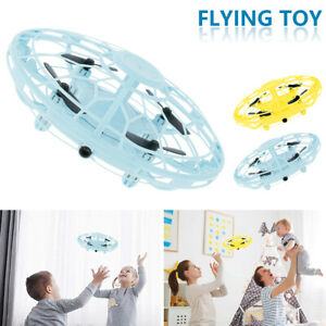 Mini Drone UFO Light Up Flying Aircraft Toy Hand-Controlled RC Kids Xmas Gift