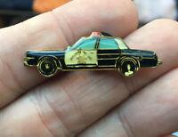 Police Car enamel pin vintage 80s cops hat lapel bag automobile vehicle