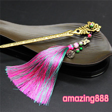 rainbow tassel bronze bookmarks tibet silver classical Chinese style book marks