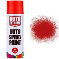 4 x 400ml Red Gloss Spray Paint Aerosol Can Auto Extreme Car Van Bike Etc...