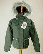 Fila Jacke Übergangsjacke Kinder Junge dunkel grün Größe 104 Neu mit Etikett