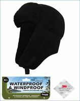 Mens Pro Climate Waterproof Windproof Genuine Thinsulate Fleece Trapper Hat