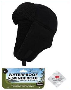 Mens Pro Climate Waterproof Windproof Genuine Thinsulate Fleece Trapper Hat